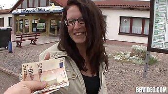 Busty German Teen Girl Fucks Guy Over Money