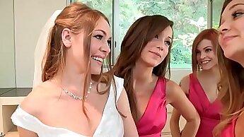 Ashley Gold and Sammie Pierce enjoying lesbian kinky foursome
