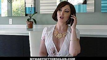 Babysitter Nicole Ray gets fucked by her boss