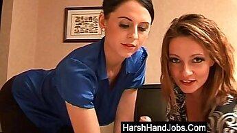 Cheeky bj handjob and fuck