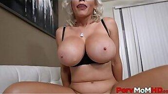 Busty Blonde Step Mom Fucked Doggystyle POV - PornoSexCamlivedotcom