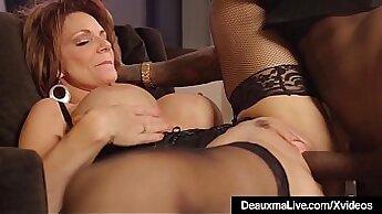 Classy black boss drills mature cock
