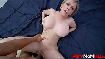 Busty Blonde MILF Looked In To Coach POV Fucking