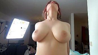 Best pornstar in Horny Redhead, Stockings xxx scene
