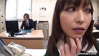 Blowjob at the office for an endearing girl