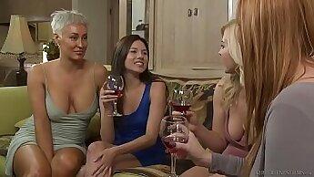 Busty Lesbian Step-Sis Taste Their Girlfriend