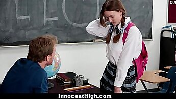 schoolgirl teased by her teacher