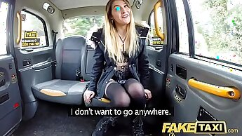 Cherrie Rae gets pressed hard by the taxi drivers big cock