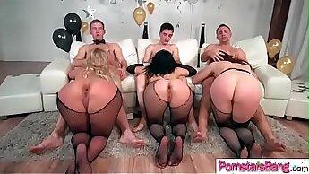 Best pornstars Barbie Sweet and Chanel Preston in best fetish, cock sucking sex scene