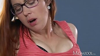 Big ass redhead milf in stockings doesnt care how she is fucked by dudes