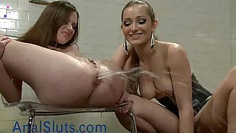 Crazy femdom babes break and squirt