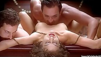 Buxom light haired darlings Abi Valentine and Antonia enjoy foreplay