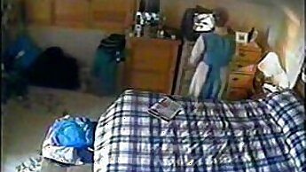 Active Feet - Nerdy Step Mom Teasing Girl on Hidden Cam Webcam