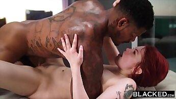 BDSM sub jiggles monster dong while still cumming