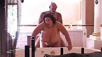 BBW ebony slut getting fucked hardcore hard