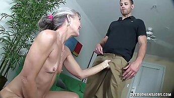 Bottom Granny Pulls Her Dildo In Her Amazing Ass