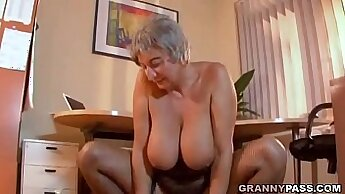 Big titty sissy Beverly Young seduced by her lover