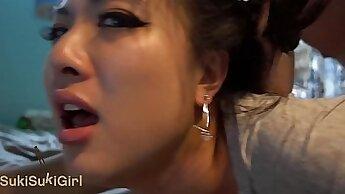 Chinese Girl Wife Facial Cumshot