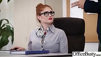 Blonde Office Thief Rammed by Homeland Security Agent