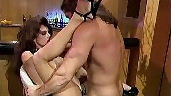 Annika Evan getting huge cock in her elegant red pussy
