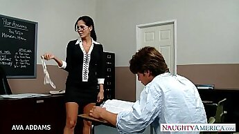 Busty Michelle Mac was punished by the teacher